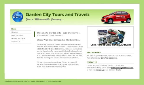 Garden-City-Tours-and-Travel - Website