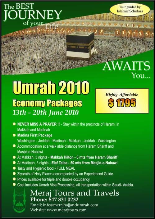 Meraj Umrah 2010 - Poster