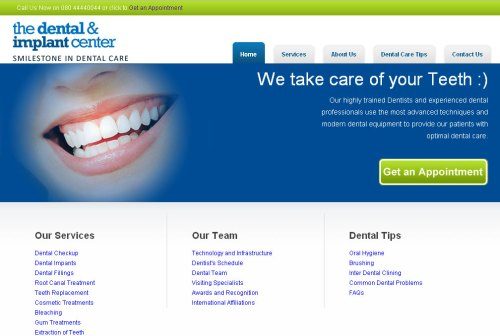 The-Dental-and-Implant-Center Website
