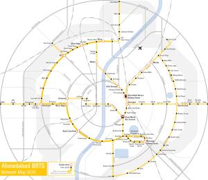 Ahmedabad_BRTS_Network_Map