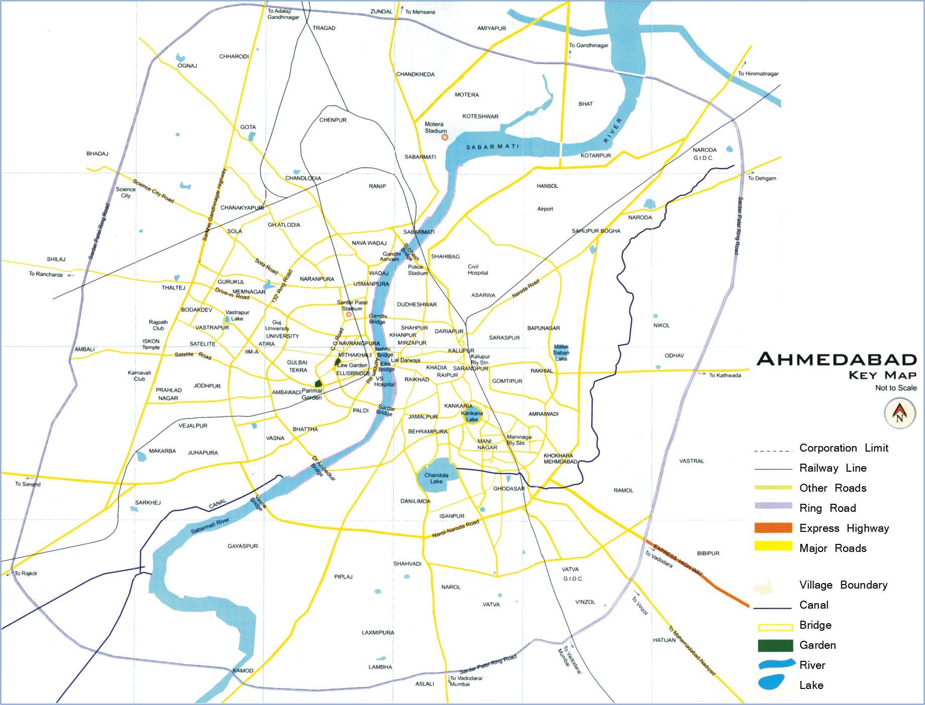 Ahmedabad City Map ile ilgili görsel sonucu