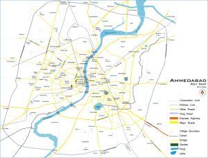 Ahmedabad Map - 2D