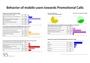 Behaviour of users to Promo Calls - A Survey