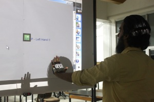 Interaction design with Gesture Recognition - Stop gesture with left hand