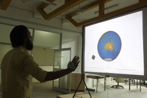 Interaction design with Gesture Recognition - Interactive Globe rotate along X and Y axis