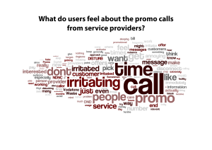 What do users feel about the promo calls - A Tag Cloud
