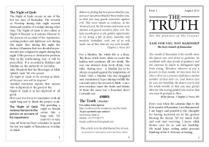 The Truth Aug 2011 - Pages 5,6,1
