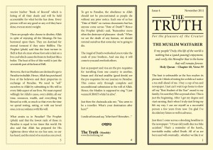 The Truth Nov 2011 Page 1, 5, 6