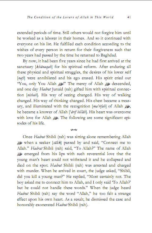 The Life of Hadrath Shibli 6