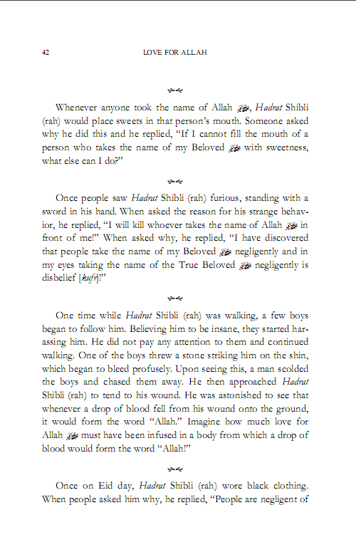 The Life of Hadrath Shibli 7