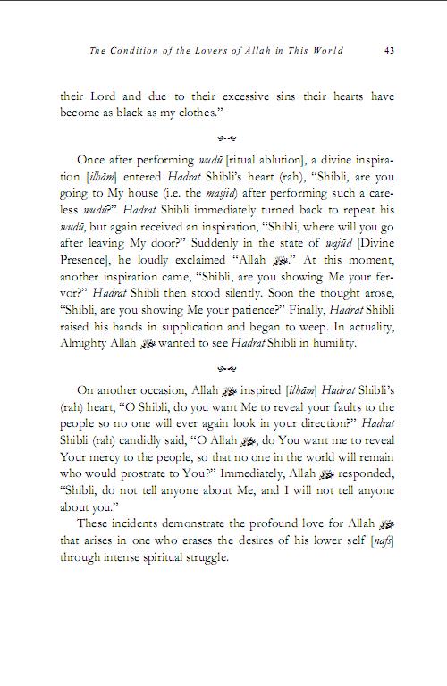The Life of Hadrath Shibli 8